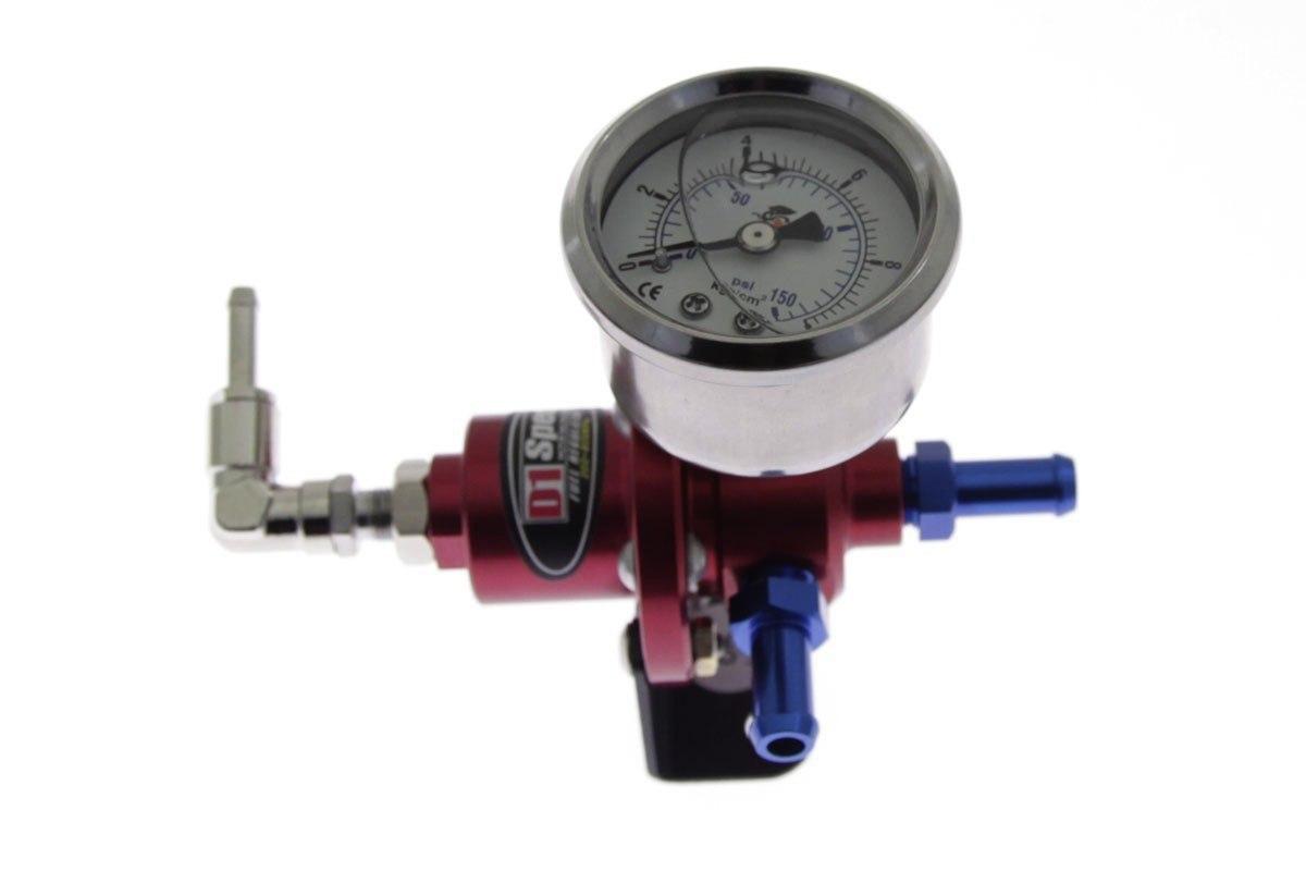 Regulator ciśnienia paliwa D1Spec RED - GRUBYGARAGE - Sklep Tuningowy
